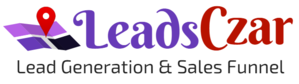 leadsczar logo with tagline - We bring you leads.